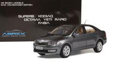 Škoda Rapid (2012) 1:18 - Šedá Metalíza