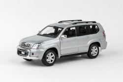 Abrex Cararama 1:24 - Toyota Land Cruiser Prado - Silver