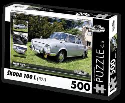 Puzzle č. 08 - Škoda 100 L (1971) - 500 dílků