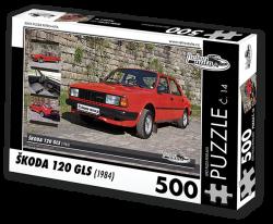 Puzzle č. 14 - Škoda 120 GLS (1984) - 500 dílků