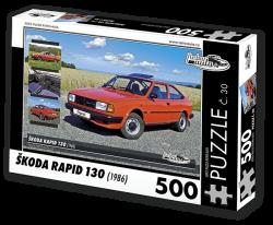 Puzzle č. 30 - Škoda Rapid 130 (1986) - 500 dílků