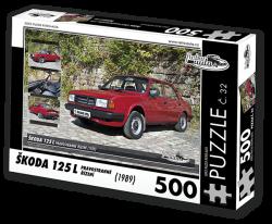 Puzzle č. 32 - Škoda 125 L Pravostranné řízení (1989) - 500 dílků