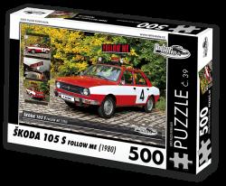 Puzzle č. 39 - Škoda 105 S Follow Me (1980) - 500 dílků