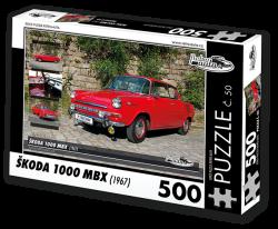 Puzzle č. 50 - Škoda 1000 MBX (1967) - 500 dílků