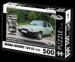 Puzzle č. 52 - Škoda Favorit 135 LS (1988) - 500 dílků