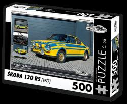 Puzzle č. 58 - Škoda 130 RS (1977) - 500 dílků