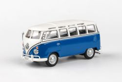 Abrex Cararama 1:43 - VW Samba Bus - Blue