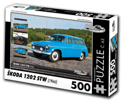 Puzzle č. 65 - Škoda 1202 STW (1966) - 500 dílků