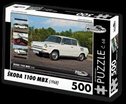 Puzzle č. 68 - Škoda 1100 MBX (1968) - 500 dílků