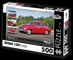 Puzzle č. 76 - Škoda 1201 (1958) - 500 dílků