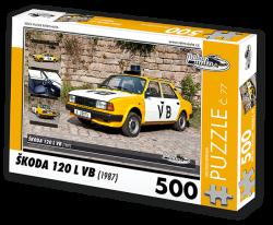 Puzzle č. 77 - Škoda 120 VB (1987) - 500 dílků