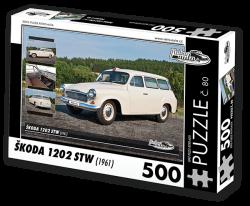 Puzzle č. 80 - Škoda 1202 STW Sanitní vůz (1961) - 500 dílků