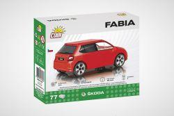 Stavebnice Škoda Fabia III - fotka krabice zezadu