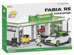COBI stavebnice - Škoda Fabia R5 - 1:35 - Závodní garáž - 535 kostek