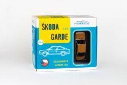 Škoda Garde (1982) 1:43 - Bronzová Metalíza - Stavebnice