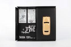 Model stavebnice Škoda 1201 - obsah krabice