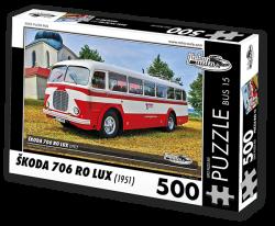 Puzzle BUS č. 15 - Škoda 706 RO LUX (1951) - 500 dílků