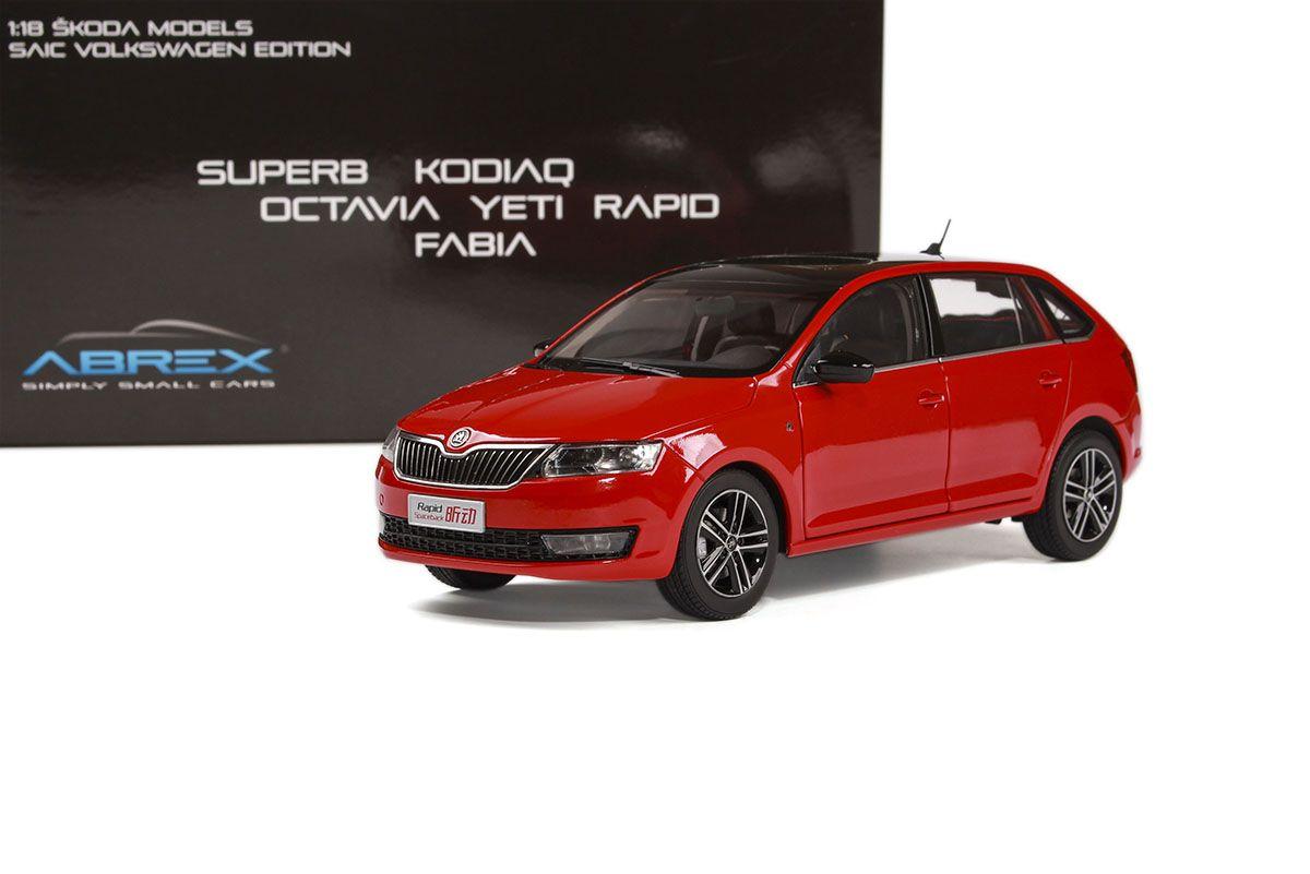 Škoda Rapid Spaceback (2013) 1:18 - Červená