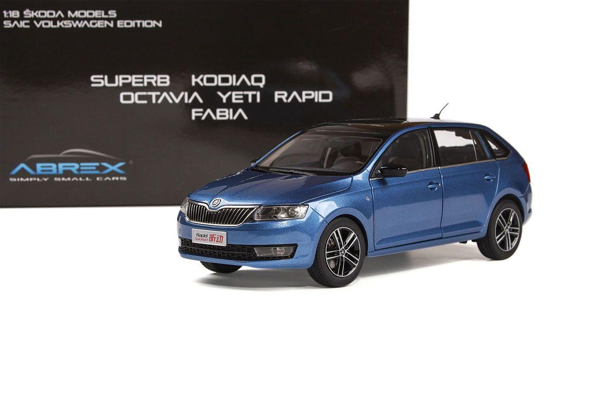 Škoda Rapid Spaceback (2013) 1:18 - Modrá Metalíza
