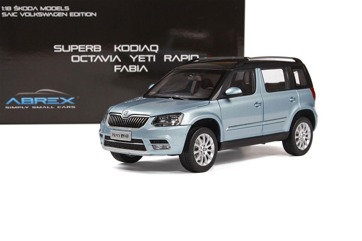 Škoda Yeti FL (2013) 1:18 - Modrá Metalíza