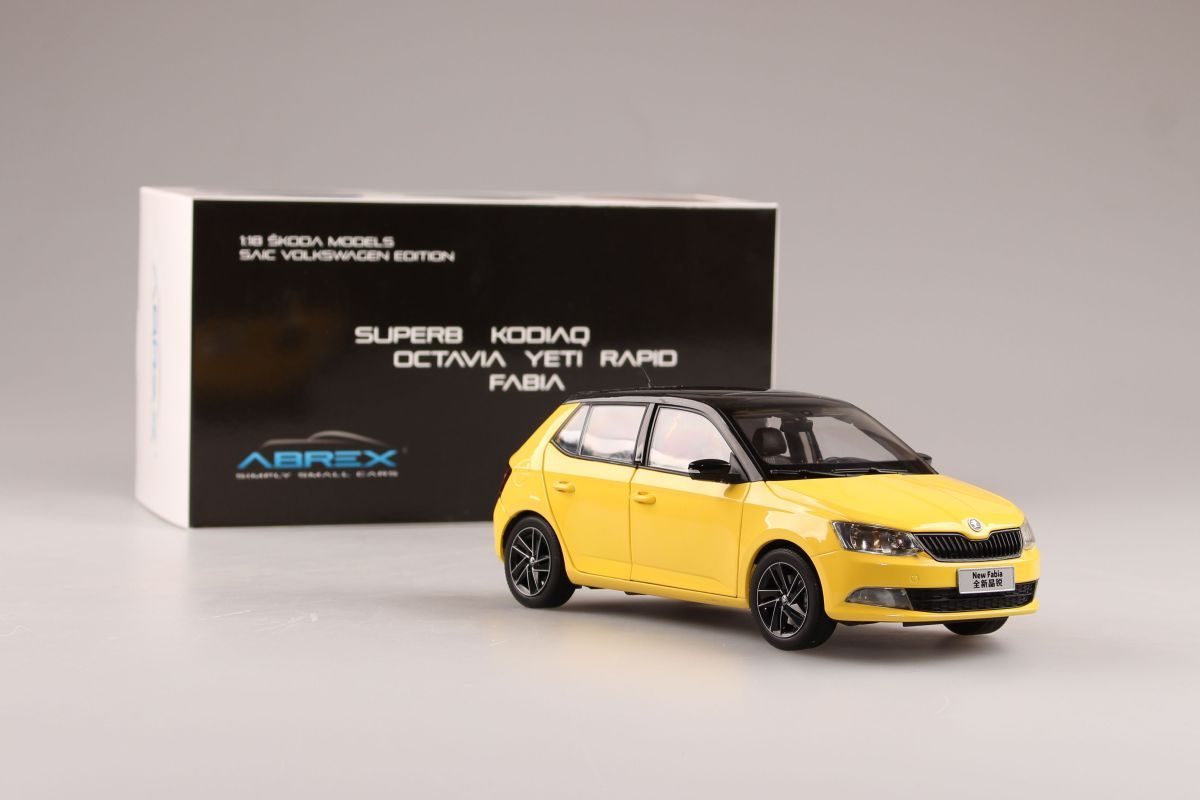 Škoda Fabia III (2015) 1:18 - Žlutá