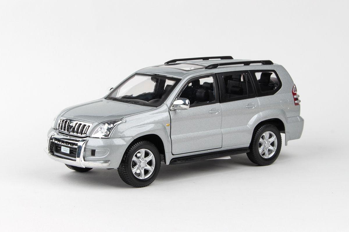 Kovový model Toytoa Land Cruiser Prado - stříbrná