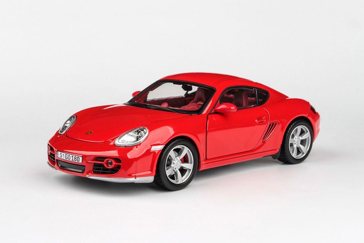Kovový model Porsche Cayman - červená
