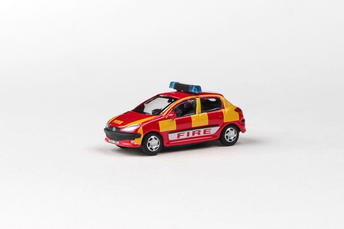 Abrex Cararama 1:72 - Junior Rescue Series, Peugeot 206 (FIRE)