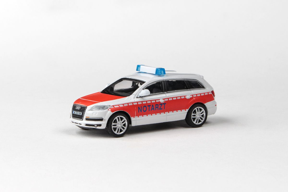 Abrex Cararama 1:72 - Junior Rescue Series, Audi Q7 (NOTARZT)