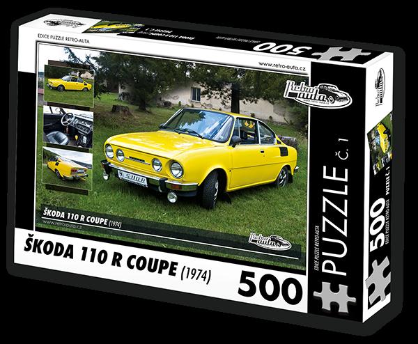 Puzzle č. 01 - Škoda 110R Coupe (1974) - 500 dílků