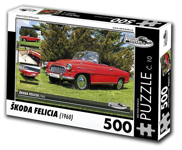 Puzzle č. 10 - Škoda Felicia (1960) - 500 dílků
