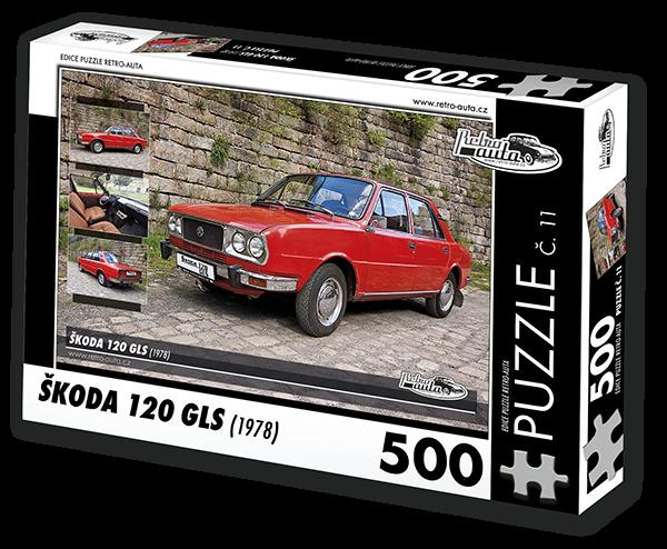 Puzzle č. 11 - Škoda 120 GLS (1978) - 500 dílků