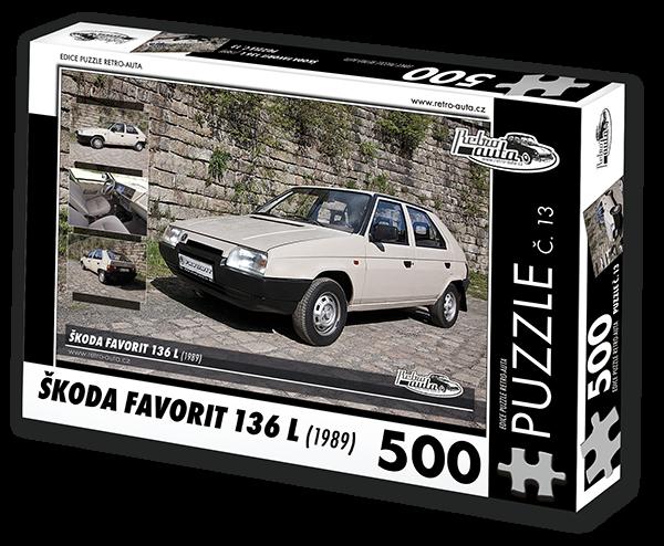 Puzzle č. 13 - Škoda Favorit 136 L (1989) - 500 dílků