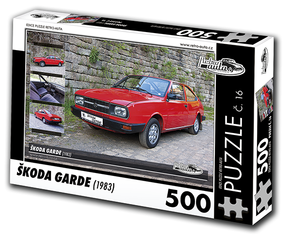 Puzzle č. 16 - Škoda Garde (1983) - 500 dílků
