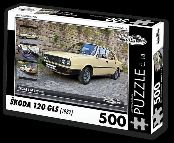 Puzzle č. 18 - Škoda 120 GLS (1982) - 500 dílků