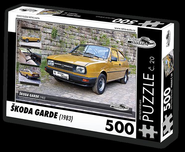 Puzzle č. 20 - Škoda Garde (1983) - 500 dílků