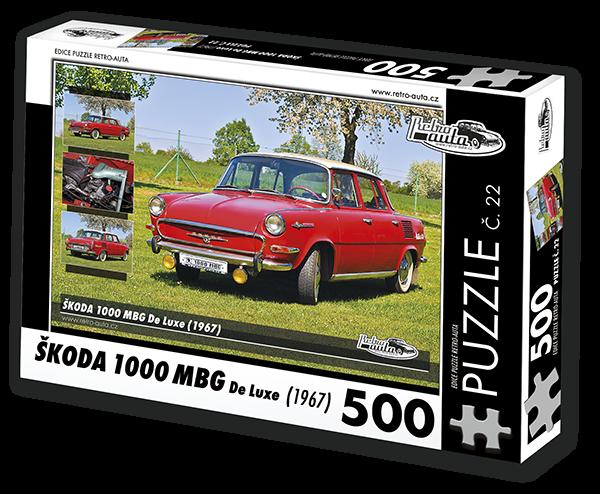 Puzzle č. 22 - Škoda 1000 MBG De Luxe (1967) - 500 dílků
