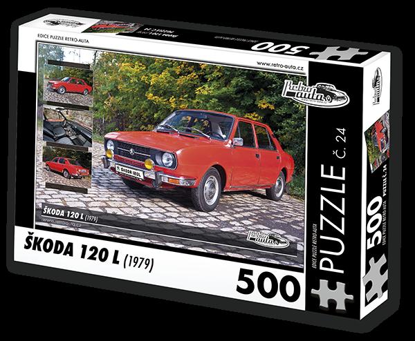 Puzzle č. 24 - Škoda 120 L (1979) - 500 dílků