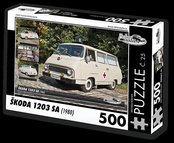 Puzzle č. 25 - Škoda 1203 SA (1980) - 500 dílků
