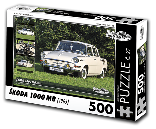 Puzzle č. 27 - Škoda 1000 MB (1965) - 500 dílků