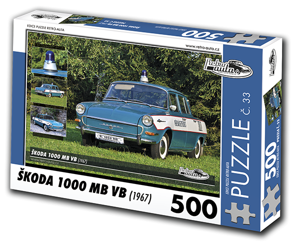Puzzle č. 33 - Škoda 1000 MB VB (1967) - 500 dílků