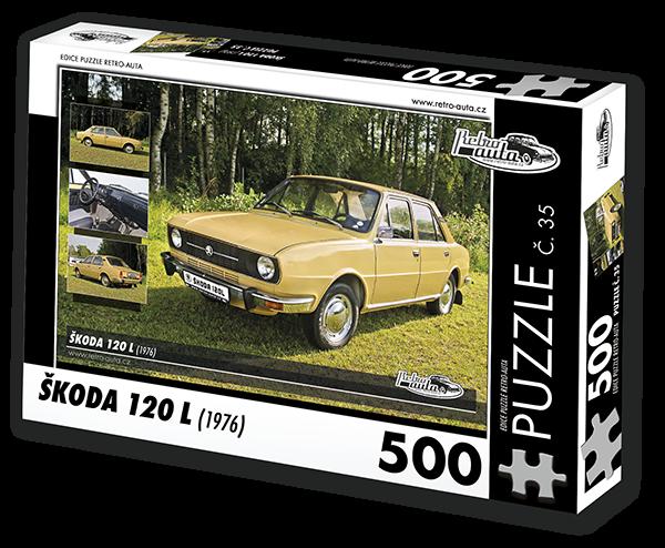 Puzzle č. 35 - Škoda 120 L (1976) - 500 dílků