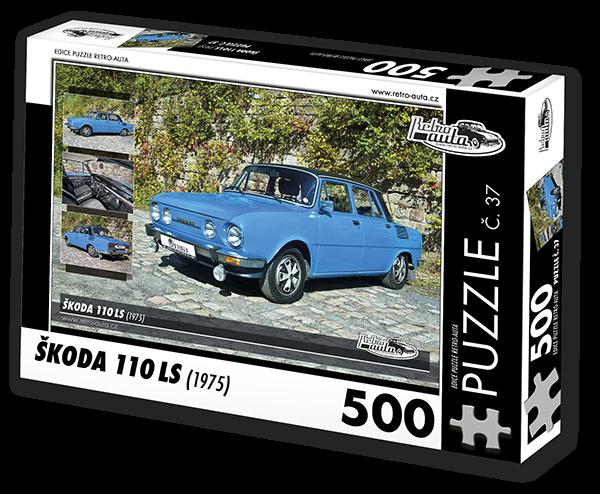 Puzzle č. 37 - Škoda 110 LS (1975) - 500 dílků