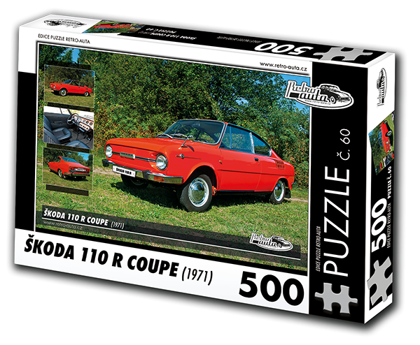 Puzzle č. 60 - Škoda 110 R Coupe (1971) - 500 dílků