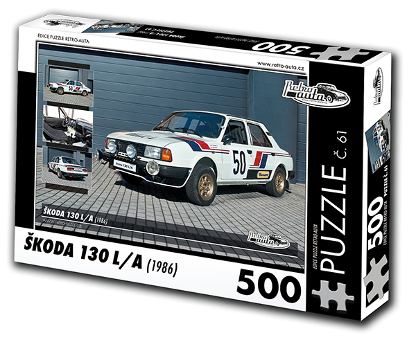 Puzzle č. 61 - Škoda 130 LA (1986) - 500 dílků