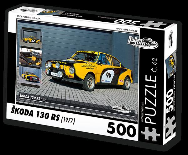 Puzzle č. 62 - Škoda 130 RS (1977) - 500 dílků