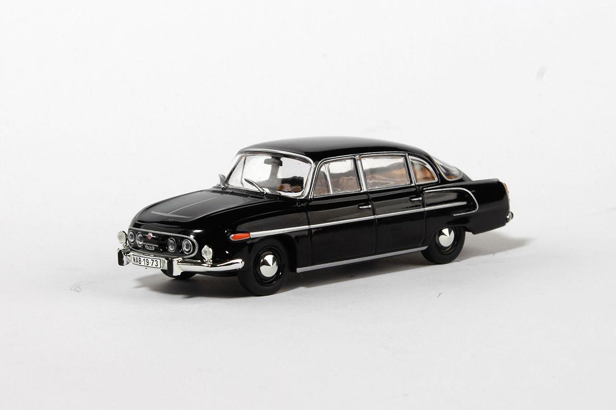 Kovový model Tatra 603 - černá - béžový interiér