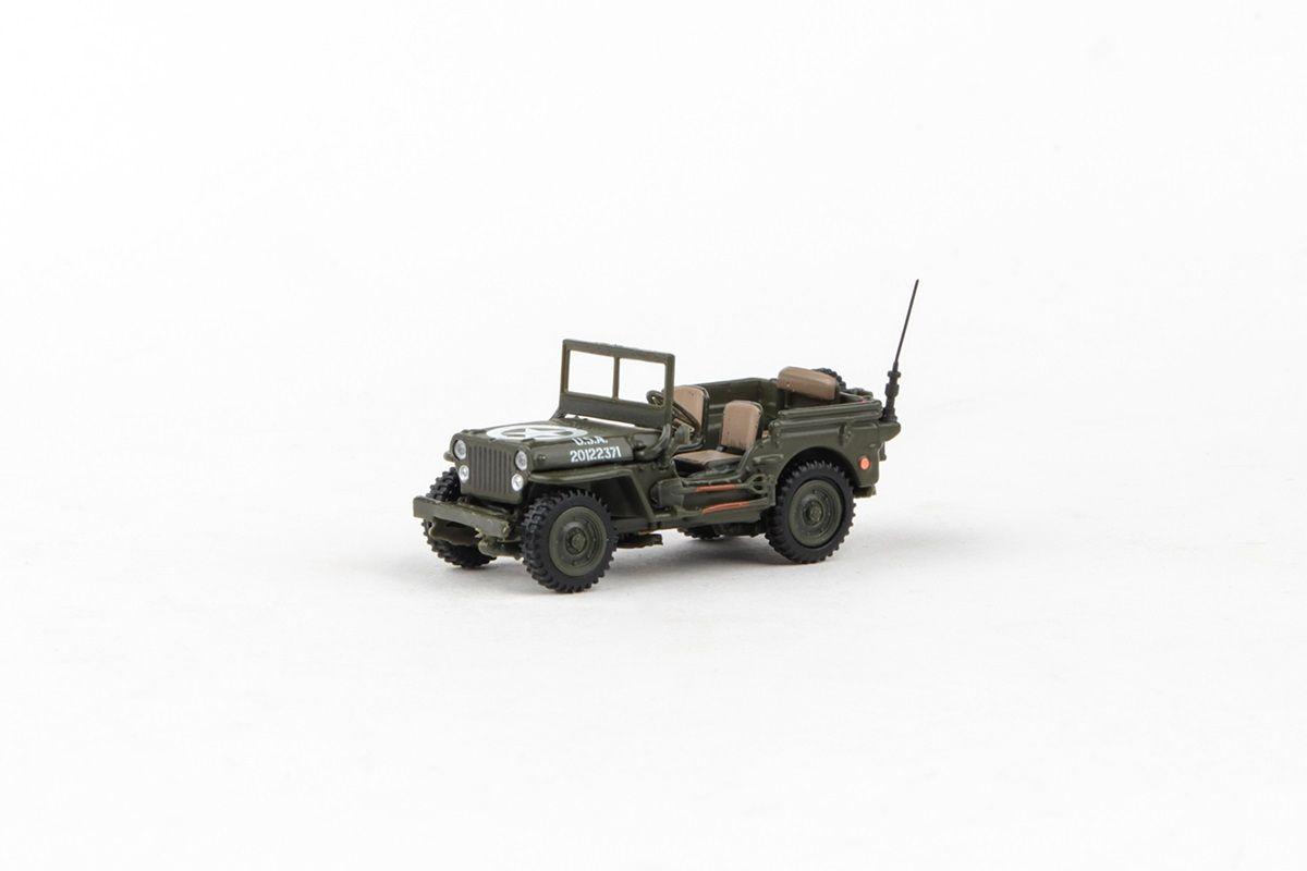 Abrex Cararama 1:72 - 1/4 Ton Military Vehicle - Military Green