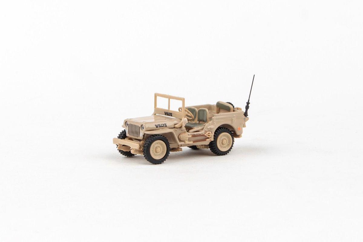Abrex Cararama 1:72 - 1/4 Ton Military Vehicle - Sandy Yellow