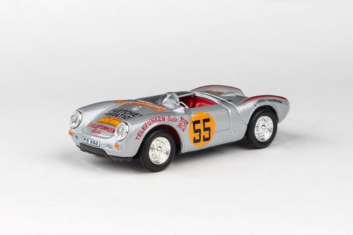 Abrex Cararama 1:43 - Porsche 550A - Racing Silver